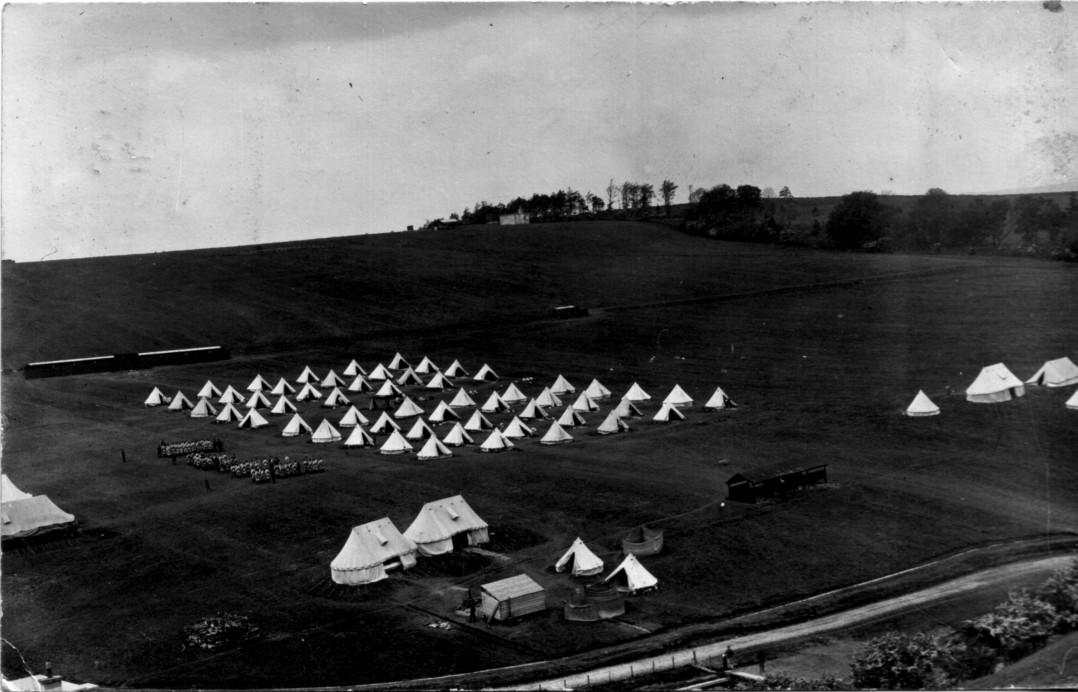 bell tents; 1912; First World War; Stobs Camp; timeline