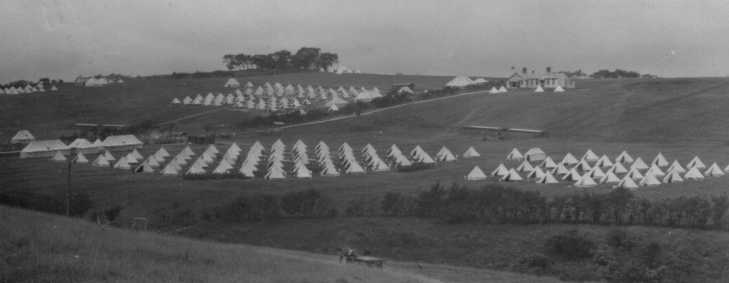 Stobs Camp; 1910; Bell Tents; First World War; Doctor