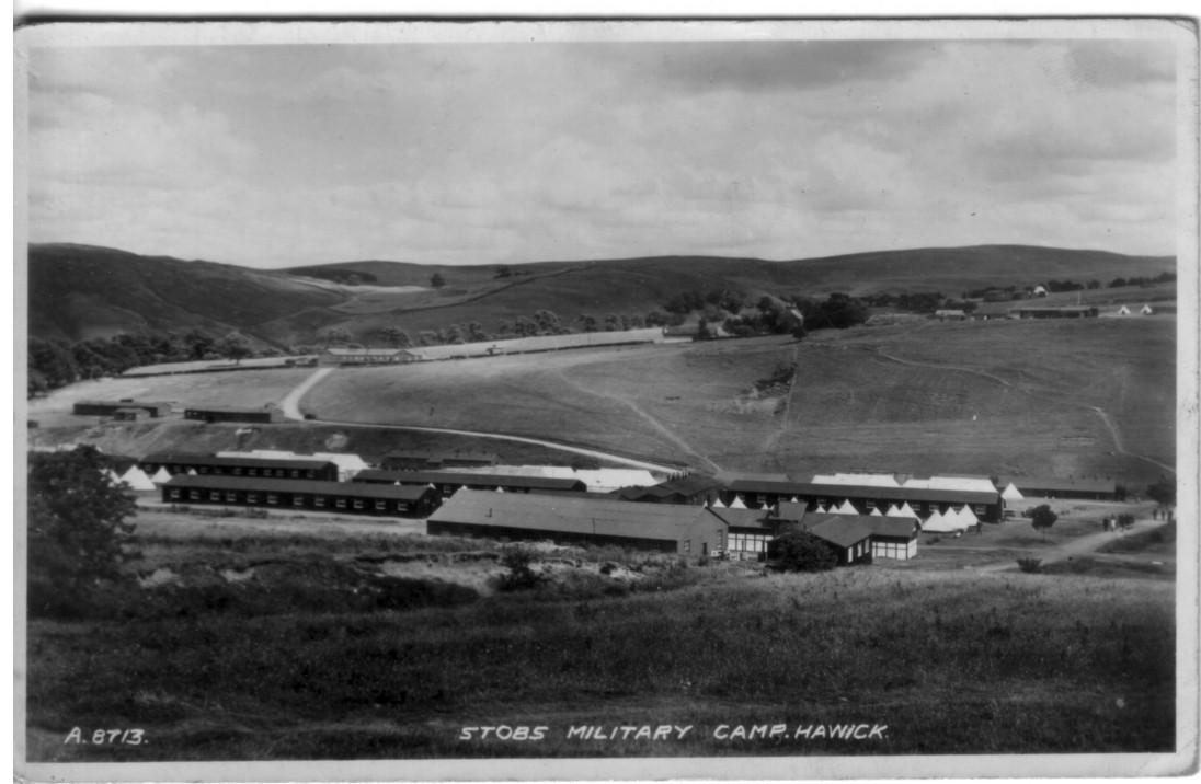 Stobs Camp; Military; 1940; Huts; Hawick