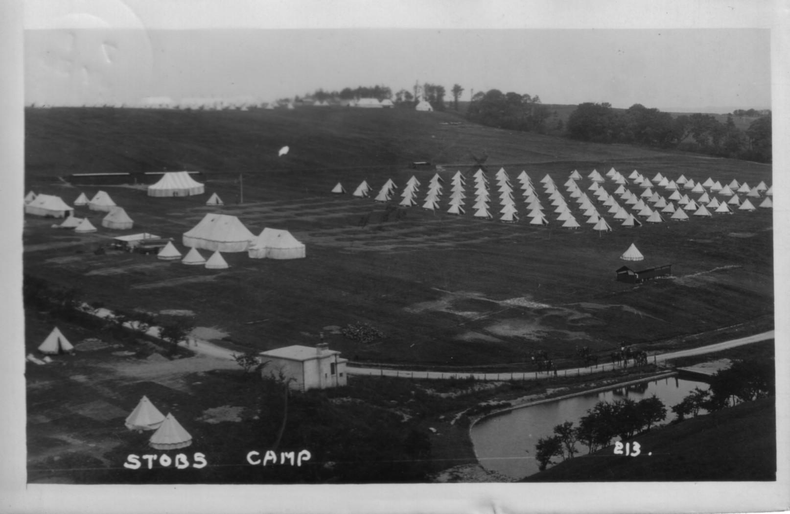 Stobs Camp; Bell Tents; 1912; First World War; Postcard