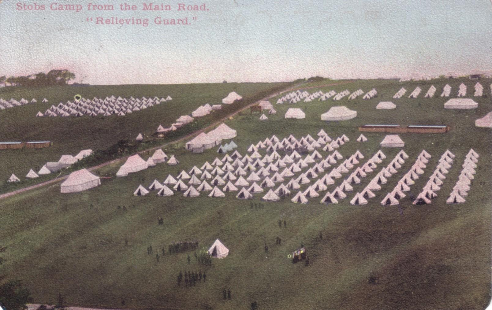 Relieving Guard; Stobs Camp; First World War; 1905; Bell Tents