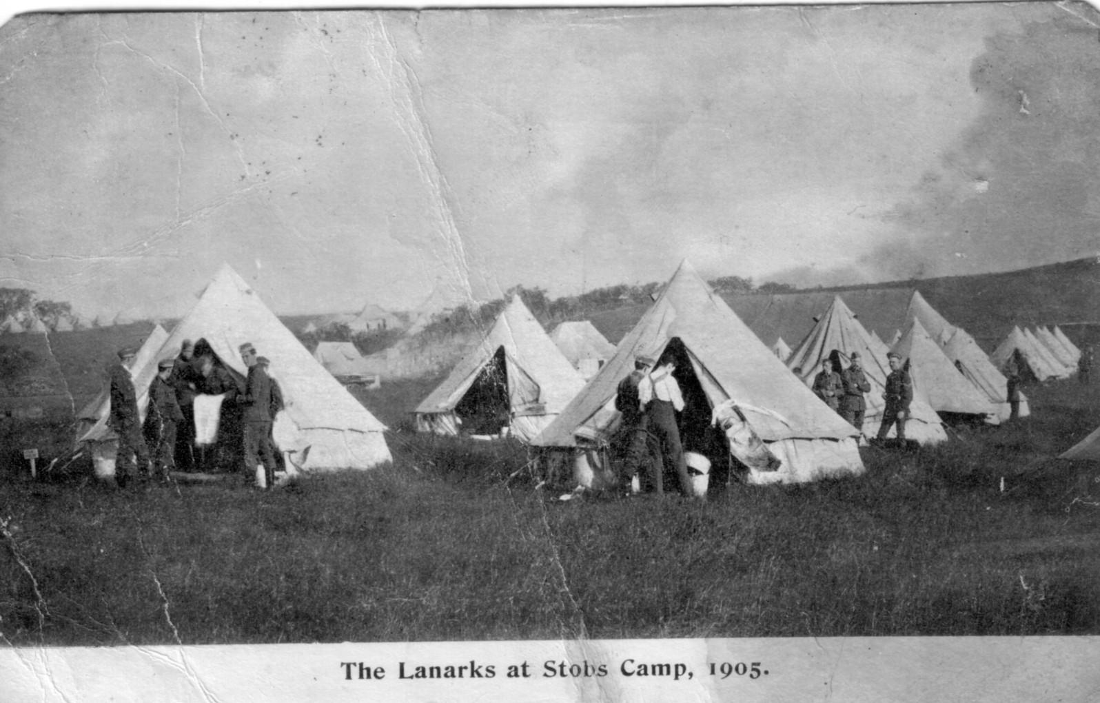 Lanarkshire Yeomanry; 1905; Bell Tents; First World War; Soldiers; Stobs Camp