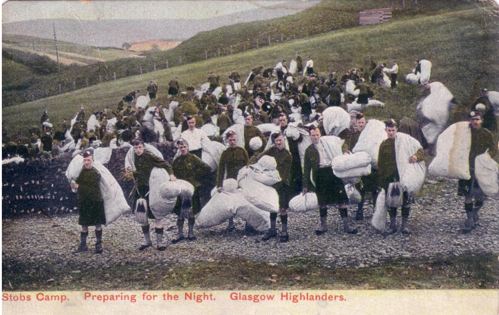 Straw Mattress; Stobs Camp; Glasgow Highlanders; 1906