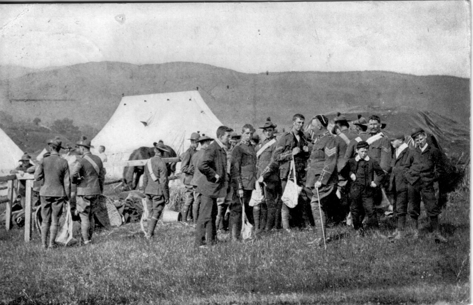 Yeomanry; Soldiers; First World War; 1905; Bell Tents