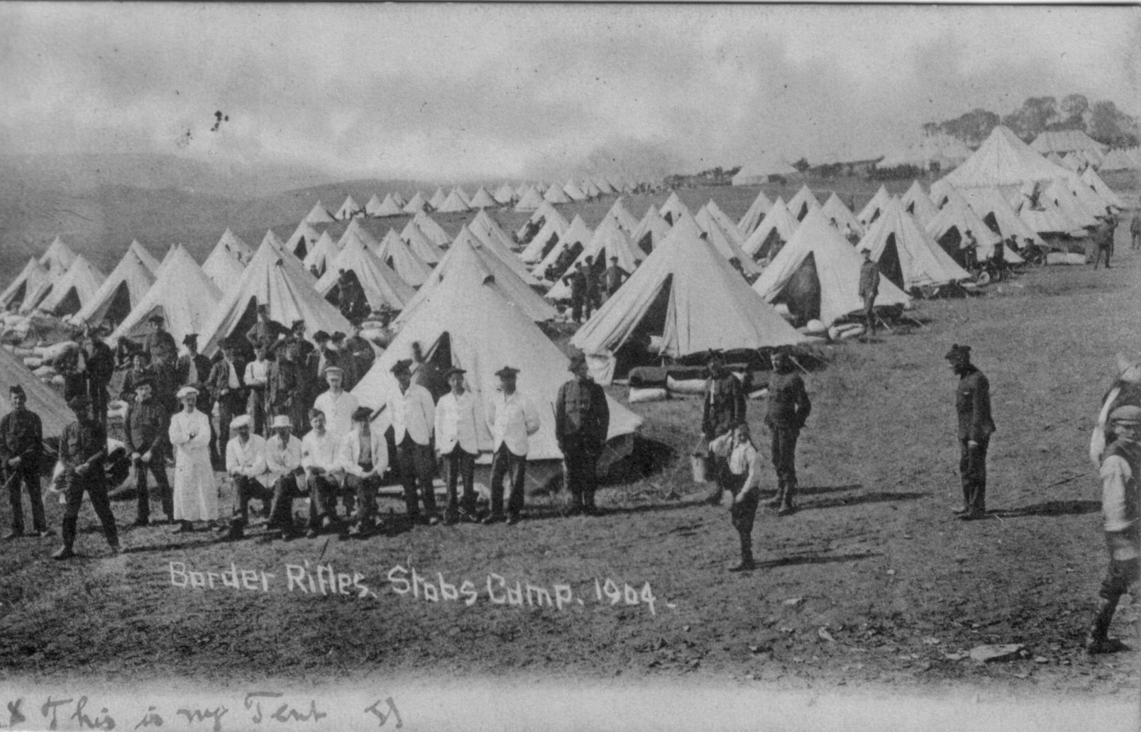 Border Rifles; Stobs Camp; 1904; Soldiers; Bell Tents