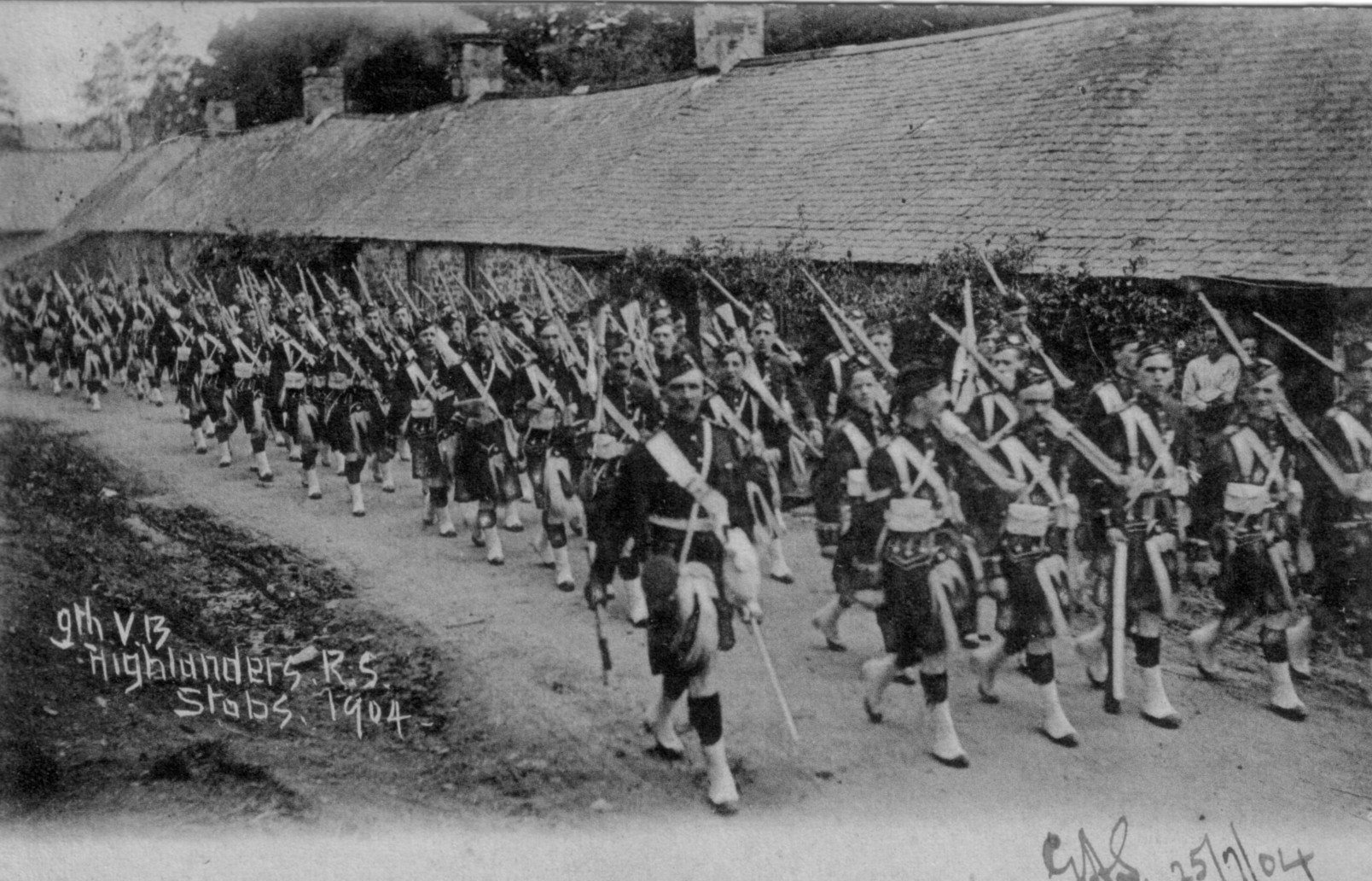 Royal Scots Highlanders; 1904; Marching; Stobs Camp; 9th Voluntary Battalion; blacksmiths