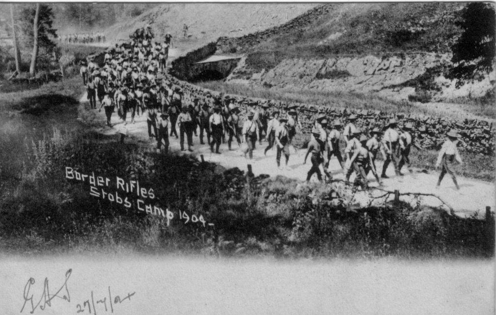 BORDER RIFLES STOBS CAMP 1904; Training