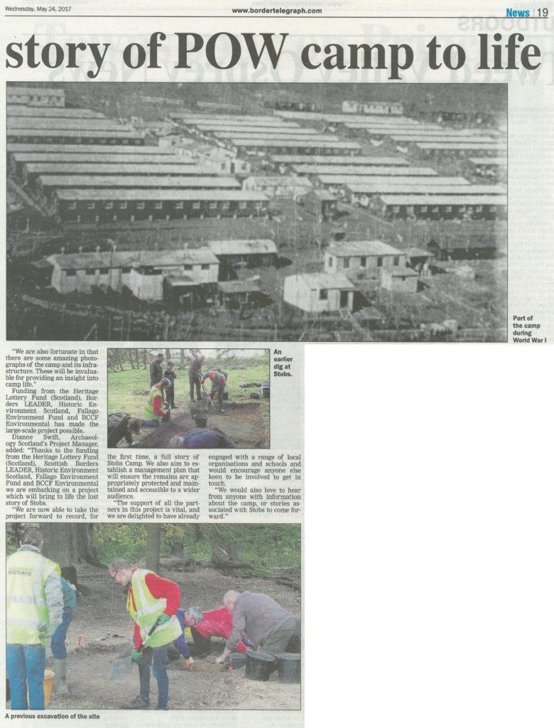 Stobs Camp; Media; Border Telegraph; 2017