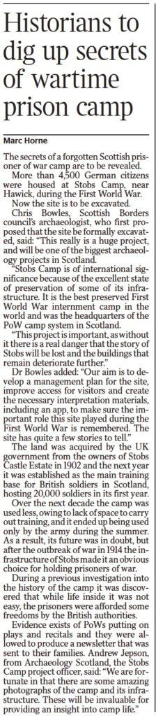 Stobs Camp; Media; The Times; 2017