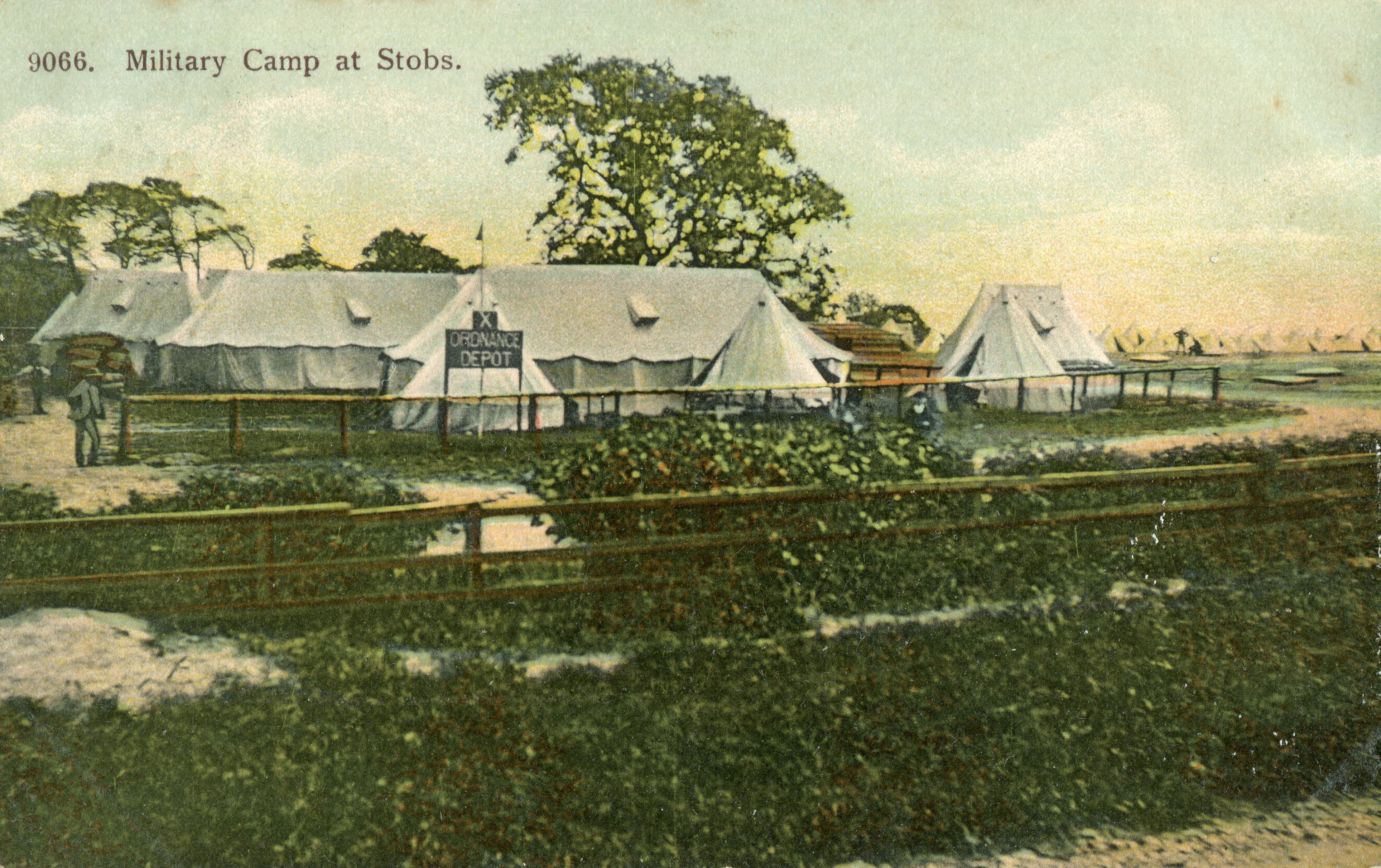 Ordnance Depot; Tent; Marquis; Stobs Camp; WW1; First World War; 1906