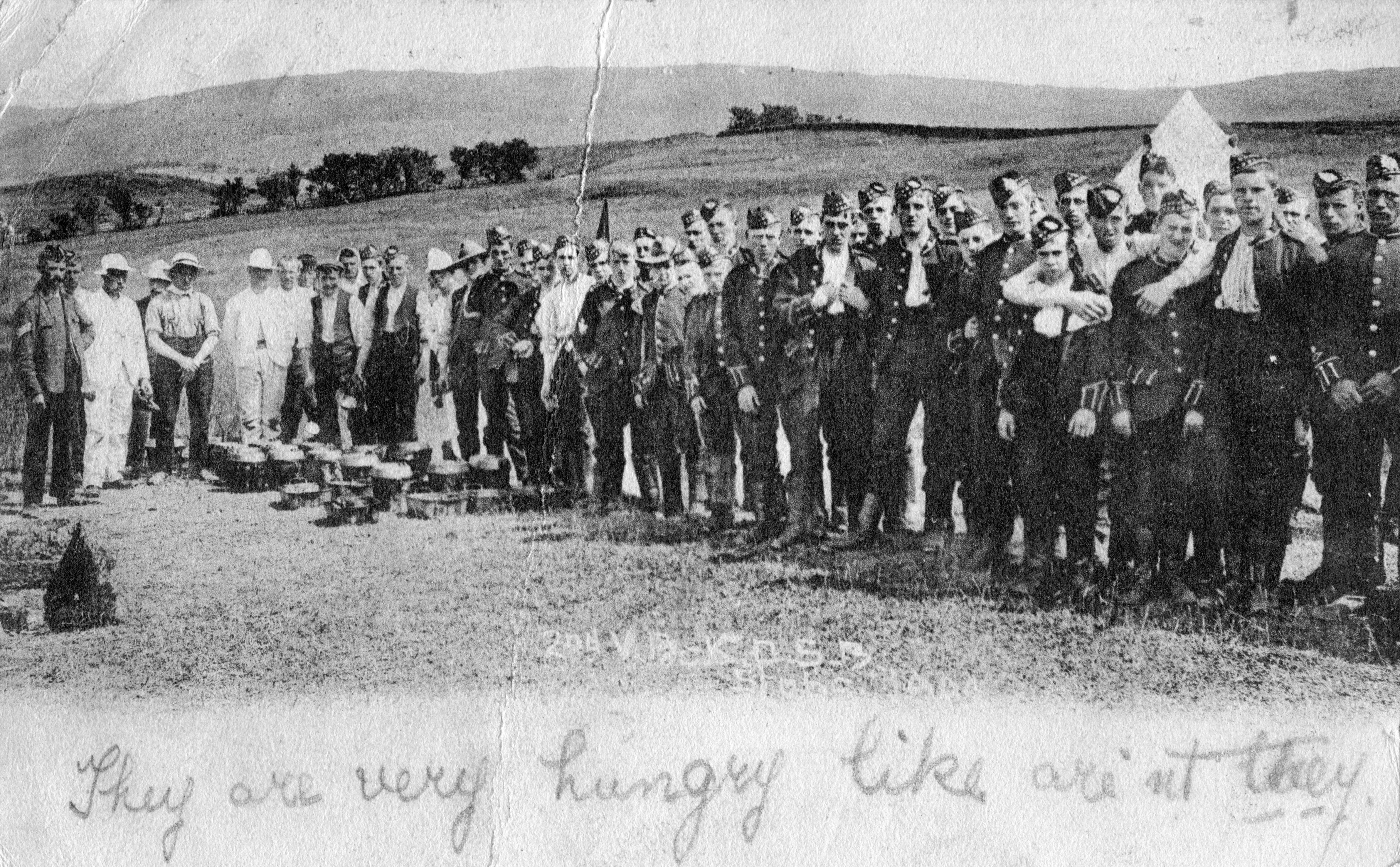 KOSB; King's Own Scottish Borderers; First World War; eating; WW1