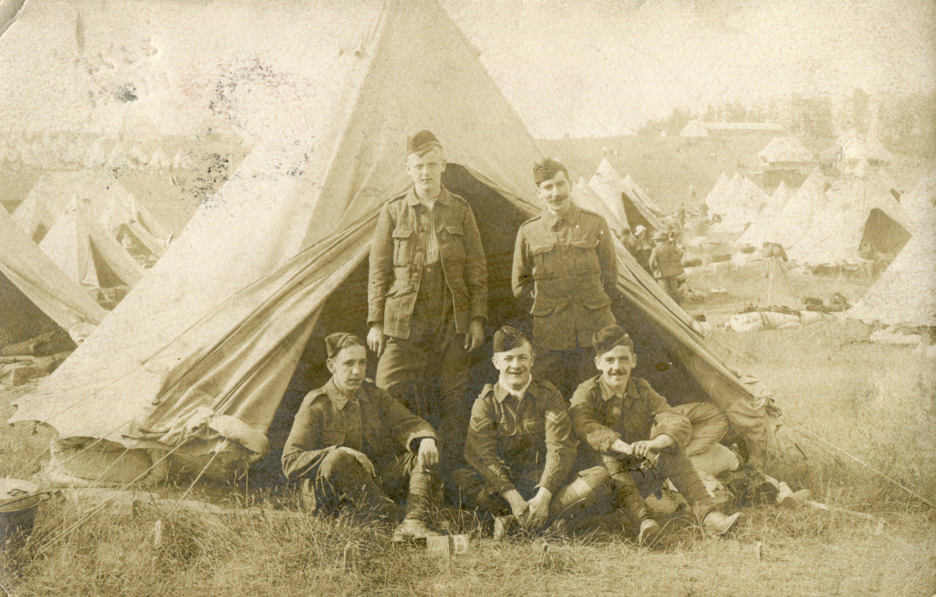 bell tent; soldiers; First World War; WW1;